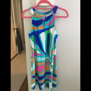 Brightly colored Halter dress